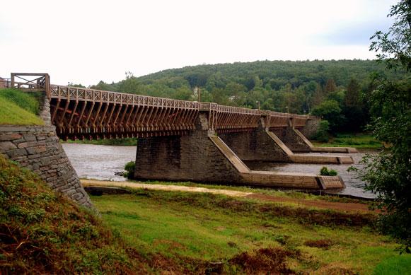 John Roebling's Delaware Aqueduct in Santa, James Manning B&B, Honesdale, PA