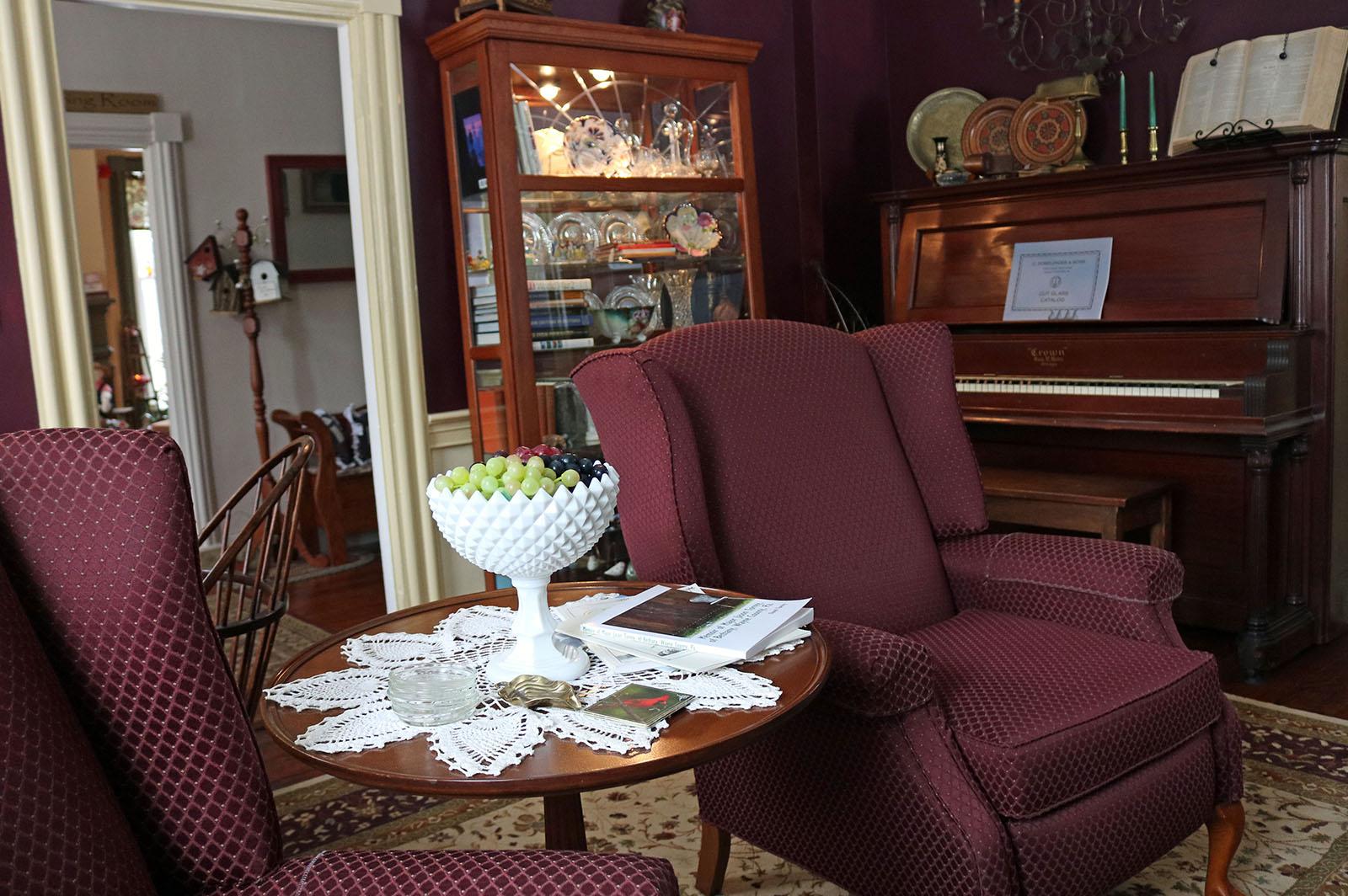 Living Room, James Manning B&B, Honesdale, PA