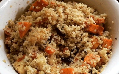 Spiced Quinoa with Roasted Apples and Vegetables